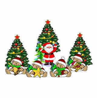 Santa Friends Photo Sculpture Ornament