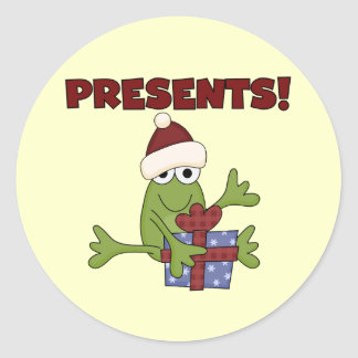 Santa Frog Tshirts and Gifts Classic Round Sticker