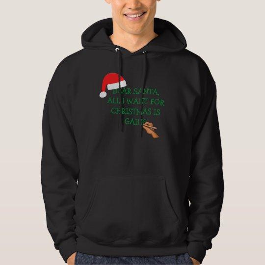 Santa gains letter black hoody