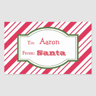 Santa Gift Tag Stickers