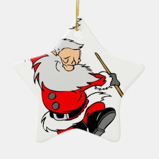 Santa Gifts Ceramic Ornament