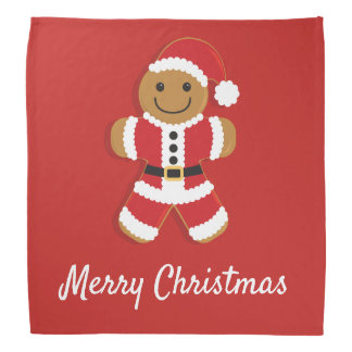 Santa Gingerbread Man | Bandana