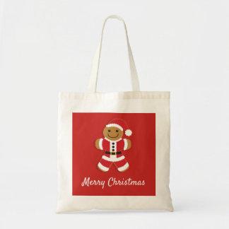 Santa Gingerbread Man | Basic Tote