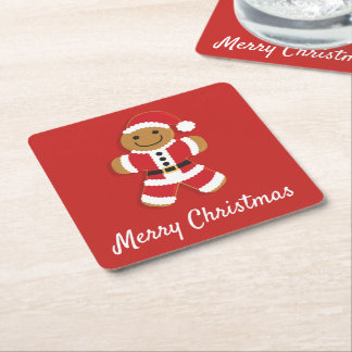 Santa Gingerbread Man | Coasters