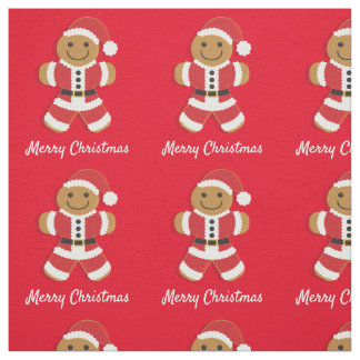 Santa Gingerbread Man | Fabric