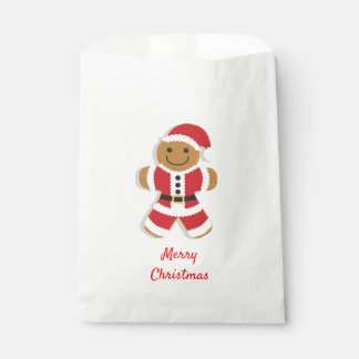 Santa Gingerbread Man | Favor Bags