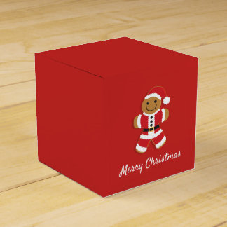 Santa Gingerbread Man | Favor Box