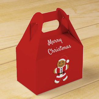 Santa Gingerbread Man | Gable Favor Box