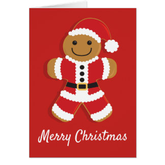 Santa Gingerbread Man | Greeting Card