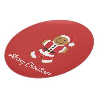 Santa Gingerbread Man | Melamine Plate