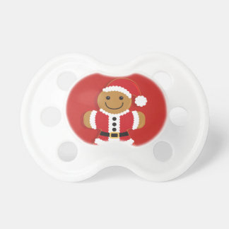 Santa Gingerbread Man | Pacifier