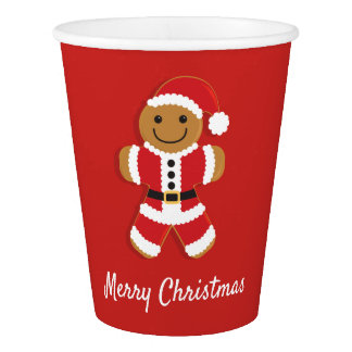Santa Gingerbread Man | Paper Cups