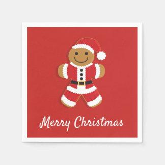 Santa Gingerbread Man | Paper Napkin