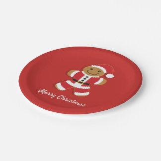 Santa Gingerbread Man   Paper Plate