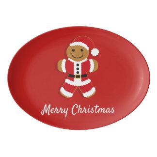 Santa Gingerbread Man   Platter