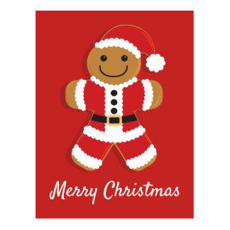 Santa Gingerbread Man | Postcard
