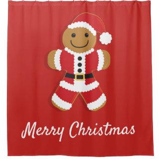 Santa Gingerbread Man | Shower Curtain