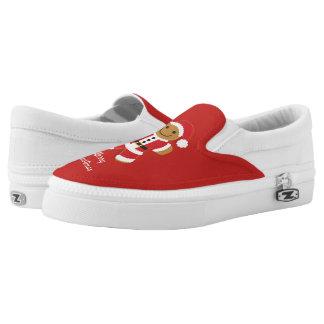 Santa Gingerbread Man | Slip On Shoes