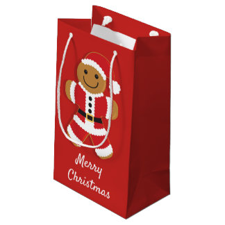Santa Gingerbread Man | Small Gift Bag