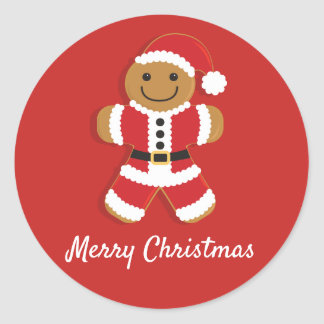 Santa Gingerbread Man | Sticker