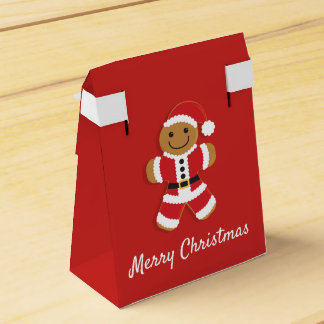 Santa Gingerbread Man | Tent Favor Box