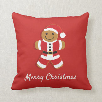 Santa Gingerbread Man | Throw Pillow