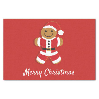 Santa Gingerbread Man | Tissue Paper