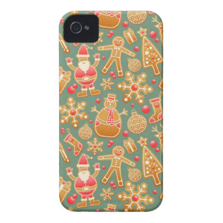 Santa Gingerbread Pattern iPhone 4 Covers