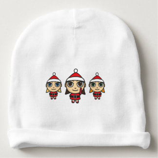 Santa Girls Cartoon Character Beanie Hat Baby Beanie