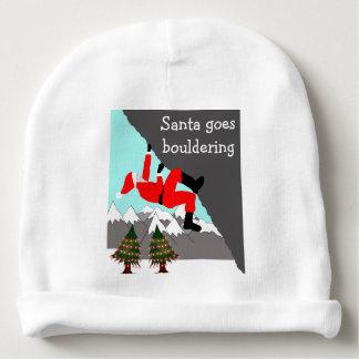 Santa goes bouldering baby hat baby beanie