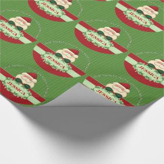 Santa GOOD GIRL Kids Theme Christmas Wrapping Paper