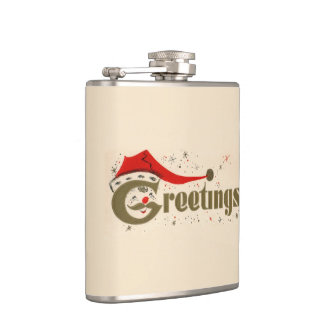 Santa Greetings Flasks