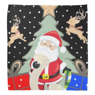 Santa Has A List Bandana