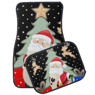 Santa Has A List Car Mat