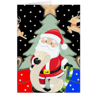 Santa Has A List Card