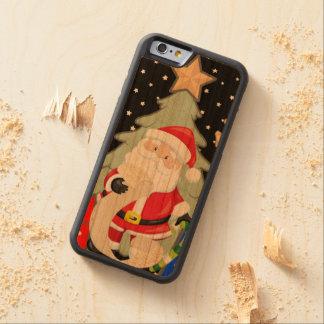 Santa Has A List Carved Cherry iPhone 6 Bumper Case