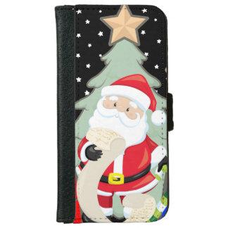 Santa Has A List iPhone 6 Wallet Case