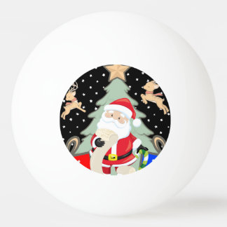 Santa Has A List Ping Pong Ball