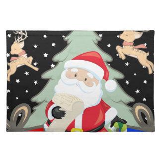 Santa Has A List Placemat
