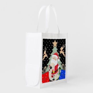 Santa Has A List Reusable Grocery Bag
