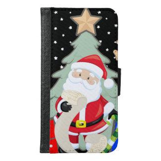 Santa Has A List Samsung Galaxy S6 Wallet Case