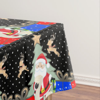 Santa Has A List Tablecloth