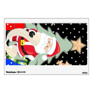 Santa Has A List Wall Decal