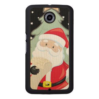 Santa Has A List Wood Phone Case
