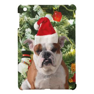 Santa Hat Bulldog Christmas Tree Snowman Gift Box Case For The iPad Mini