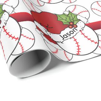 Santa Hat Christmas Baseball | DIY Name