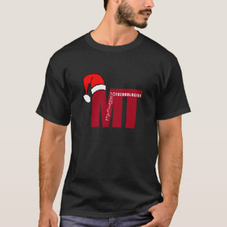 Santa Hat Christmas  MT (Medical Technologist) T-Shirt