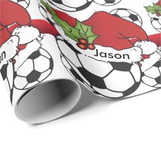 Santa Hat Christmas Soccer Ball | DIY Name
