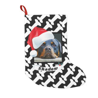 Santa Hat for Dog Personalized Photo Name Cute Small Christmas Stocking