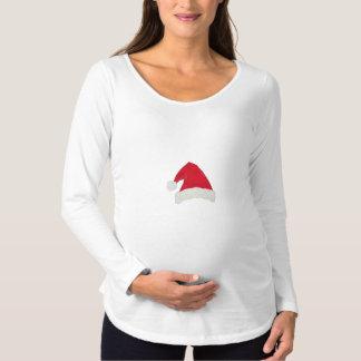 Santa Hat Maternity Shirt